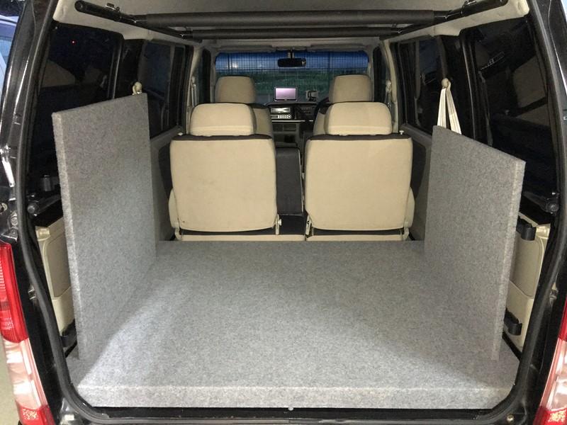 スバルサンバー(TV、TW)をDIYで車中泊仕様にしてみよう③ セカンドシート用パネル&収納編
