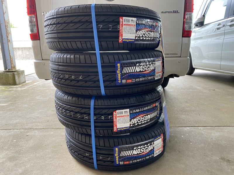 【ハイエース】タイヤを新品に交換!ネットで買って成田のお店で持込み取付け